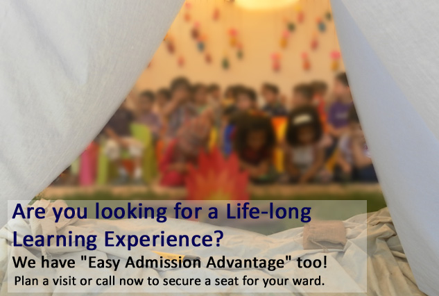 Easy Admission Advantage for Pre-school to Grade 4