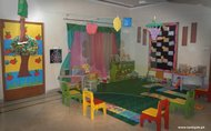 Play area filled with learn with fun toys for kids